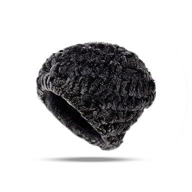Women Hat Rabbit Warm Lady Hat Knitted Girls Hats Boys Skullies Beanies Female Male Caps,