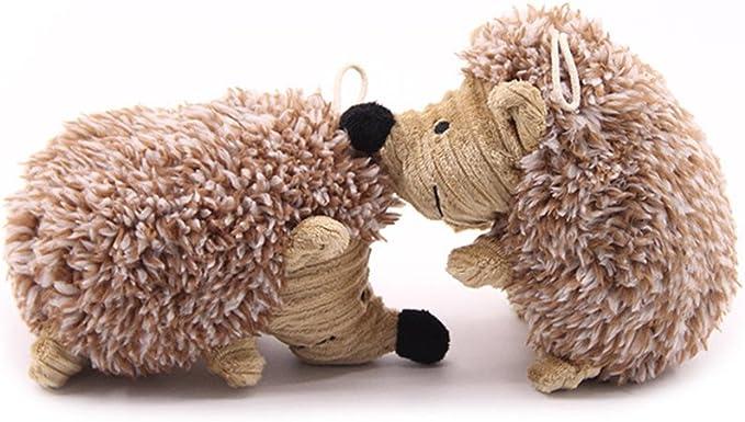 UKCOCO giocattolo per cane in peluche Squeaky H/érisson giocattoli cucciolo cane giocattolo