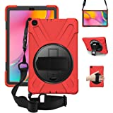 ZenRich Galaxy Tab A 10.1 Case 2019 T510 T515, zenrich Shockproof Heavy Duty Rugged Case with 360 Rotating Kickstand…