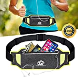 Running Belt Fanny Pack for Women Men Waist Bag Sport Accessories Workout Comfortable Adjustable Water Resistant Pouch Jogging Hiking Cycling Fitness Travel for iPhone X 6 7 8 Plus Samsung (Green)
