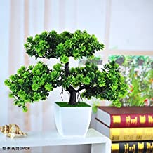 SituMi Artificial Fake Flowers Tree Plant Home The Decor Bonsai,Green