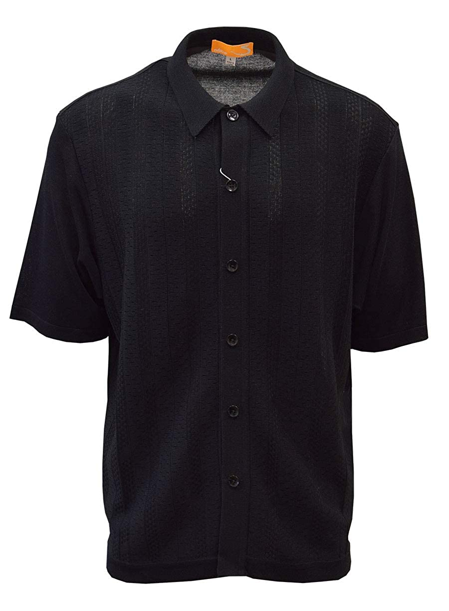 Mens Vintage Shirts – Casual, Dress, T-shirts, Polos SAFIRE SILK INC. Edition S Mens Short Sleeve Knit Shirt - California Rockabilly Style: Solid Jacquard $49.00 AT vintagedancer.com