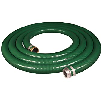 Apache 98128015 1-1//2 x 25 PVC Style G Suction Hose  with Aluminum Pin Lug Fittings Green