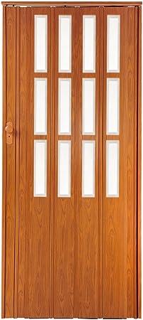 Puerta plegable corredera cereza Colores con candado y altura 203 cm ancho de montaje de ventana de hasta 85 cm Doble pared Perfil se puede cerrar: Amazon.es: Bricolaje y herramientas