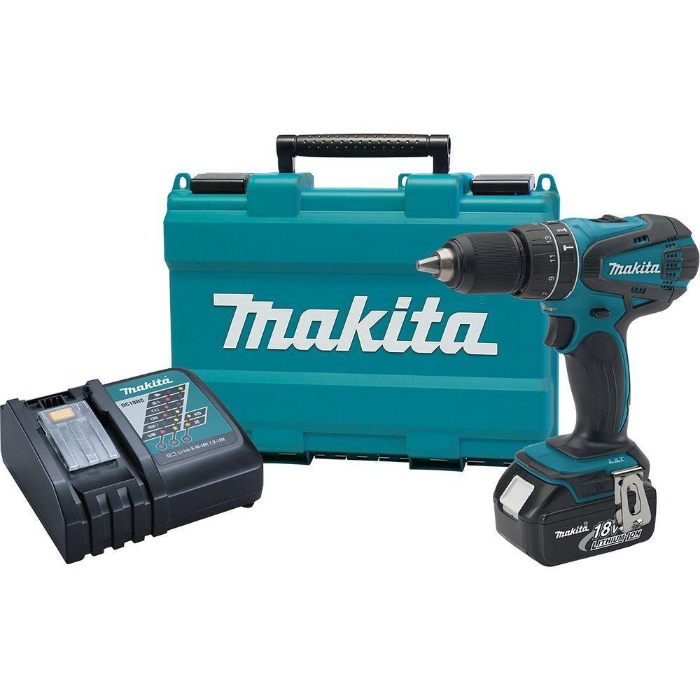 NEW Makita 18-Volt LXT 1/2 in. Cordless Hammer Driver/Drill Kit XPH012 Power NI ,,#id(retrogamersden_138262588280056