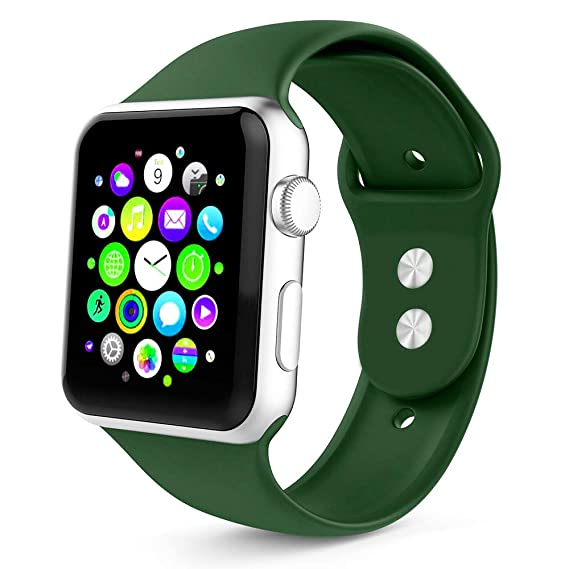 Tounique - Correa de Reloj para Apple Watch, Correa de Repuesto de Doble Color Perforada