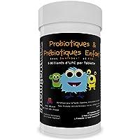 Probiotique Enfant Adolescent 6 Milliards de CFU avec Prébiotiques, Contient des Prébiotiques pour 10x Plus d'Efficacité, Les Enfants Vont Adorer Son Goût, 2 Mois de Traitement Par Bouteille