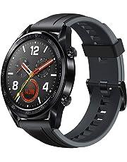 Huawei Watch GT - Montre Connectée (GPS, Ecran AMOLED tactile, boitier Inox 46mm, autonomie jusqu'à 14 jours) avec Bracelet Sport Noir