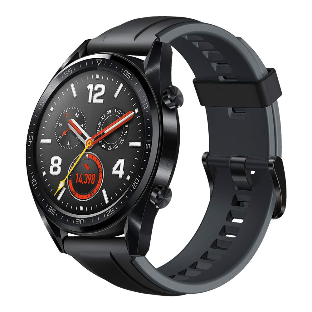 Huawei Watch GT Sport - GPS Smartwatch with 1.39'' AMOLED Touchscreen, 2-Week Battery Life, 24/7 Continuous Heart Rate Monitor, Indoor and Outdoor Sports, 5ATM Waterproof (US Warranty)