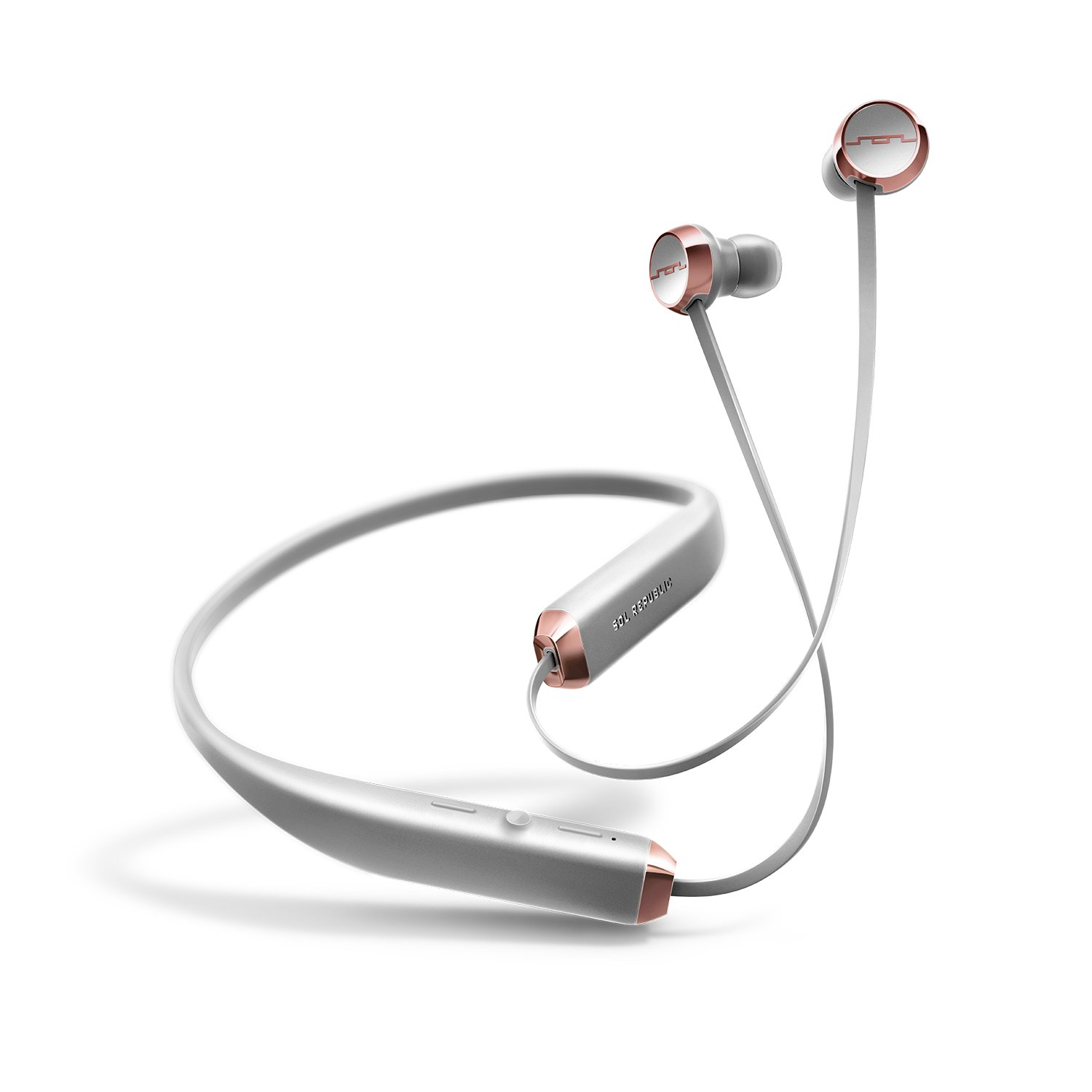 SOL REPUBLIC Shadow Wireless Bluetooth Earbuds – Multi-Device Connectivity, Folds in your Pocket, Noise Isolation, Featherweight Comfort, Rechargeable Battery, SOL-EP1140GY Grey by SOL REPUBLIC