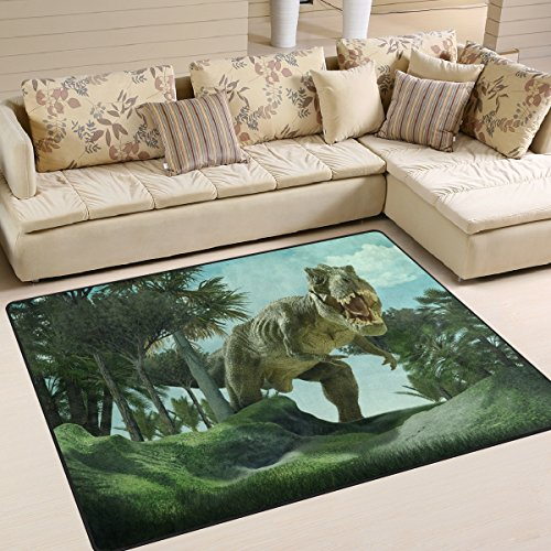 [Tyrannosaurus Rex Dinosaur Pattern Print Area Rug Carpet Floor Mat For Dining Room Living Room Bedroom, 7'x5'] (Child Rust T-rex Costume)