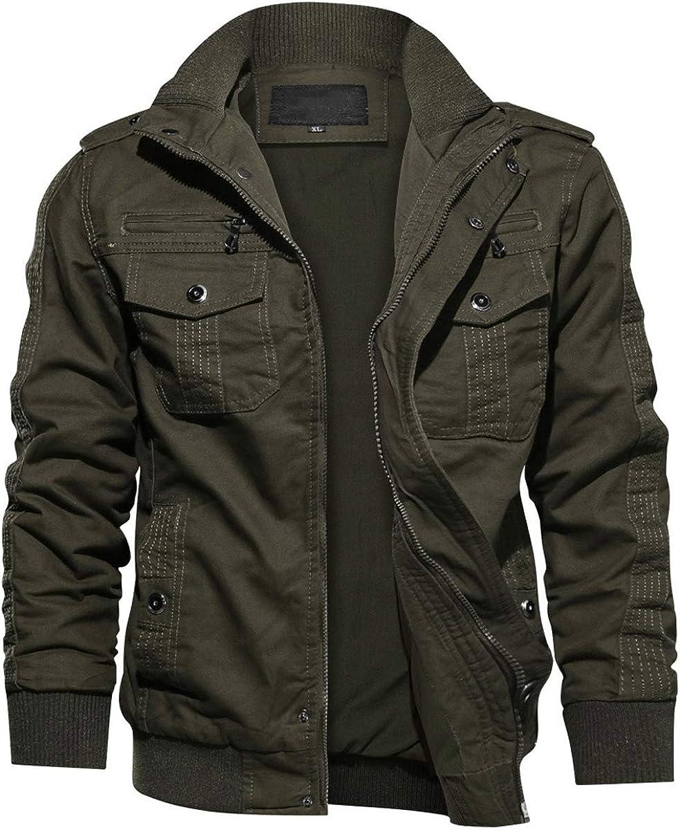 EKLENTSON Herren Arbeitsjacke Workwear /Übergangsjake Cargo Jacke mit Vielen Taschen