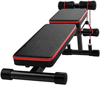 YFFSS Adjustable Weight Bench Foldable Workout Bench Heavy-Duty Sit Up Bench for Full Body Portable Exercise Olympic Weight Bench Workout Bench