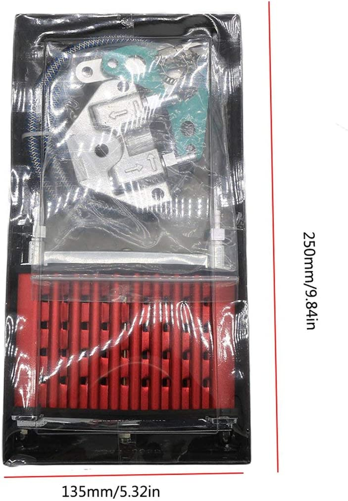 Radiateur de refroidissement pour refroidisseur dhuile pour 50cc 70cc 90cc 110cc 125cc Horizontal Moteur Dirt Bike//V/élo Pit//V/élo Monkey Rouge