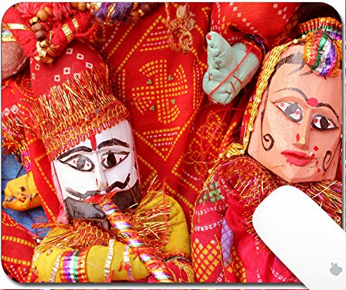 Luxlady Natural Rubber Gaming Mousepads Puppet In Rajasthan 9 25In X 7 25In Image  27494530