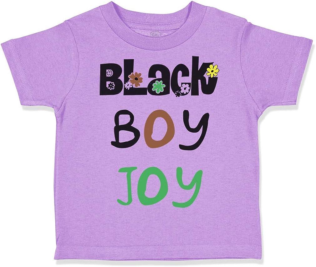 Custom Toddler T-Shirt Black Boy Joy Funny Humor Cotton Boy /& Girl Clothes