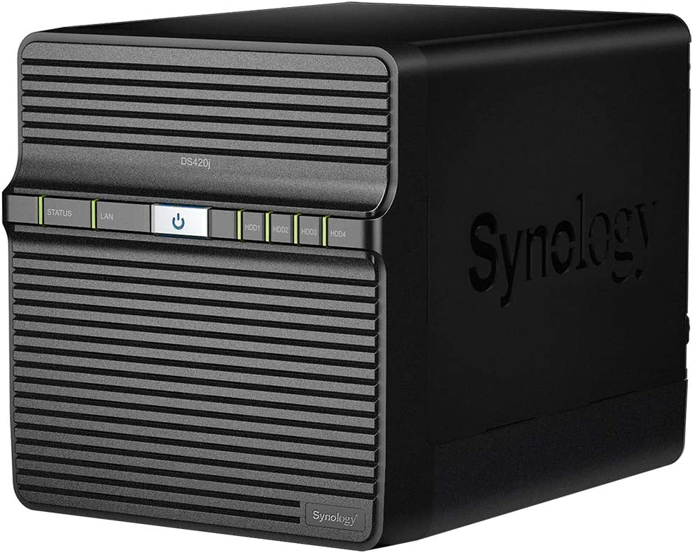 Installed with 4 x 8TB Toshiba N300 Drives Synology DS420j 32TB 4 Bay Desktop NAS Solution