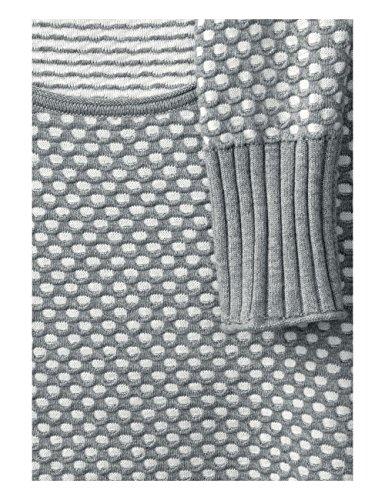 Grau Felpa Structure 20150 Donna Pullover Melange Cecil Silver wEIq1cx