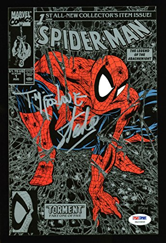 Stan Lee & Todd McFarlane Signed Spider-Man Torment #1 Comic Silver Cover PSA from PRESS PASS COLLECTIBLES