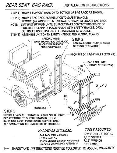 Universal Golf Cart Bag Rack