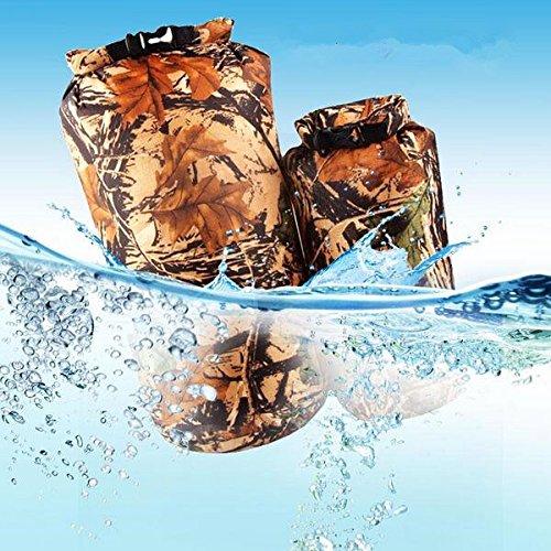 8L Outdoor Camo Waterproof Lightweight Storage Bag Camping Dry Sack Bag Traveling Equipment