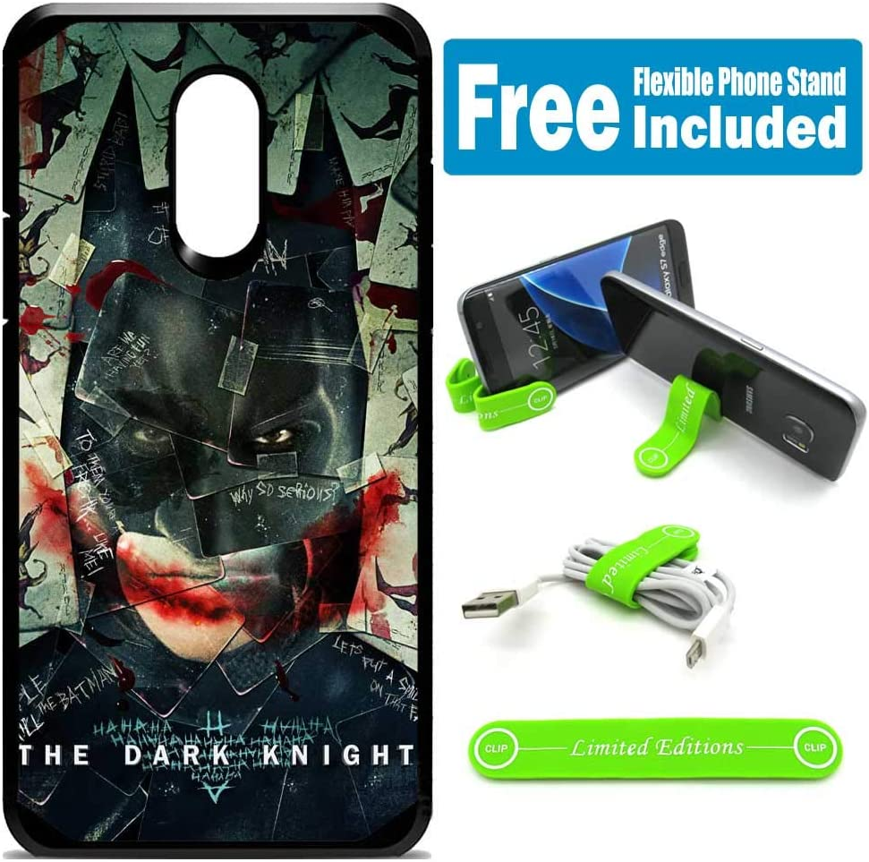 for LG [Aristo 3] [Aristo 2] [Aristo 2 Plus] [Tribute Empire] Hybrid Rugged Hard Cover Case - Joker Batman Cards