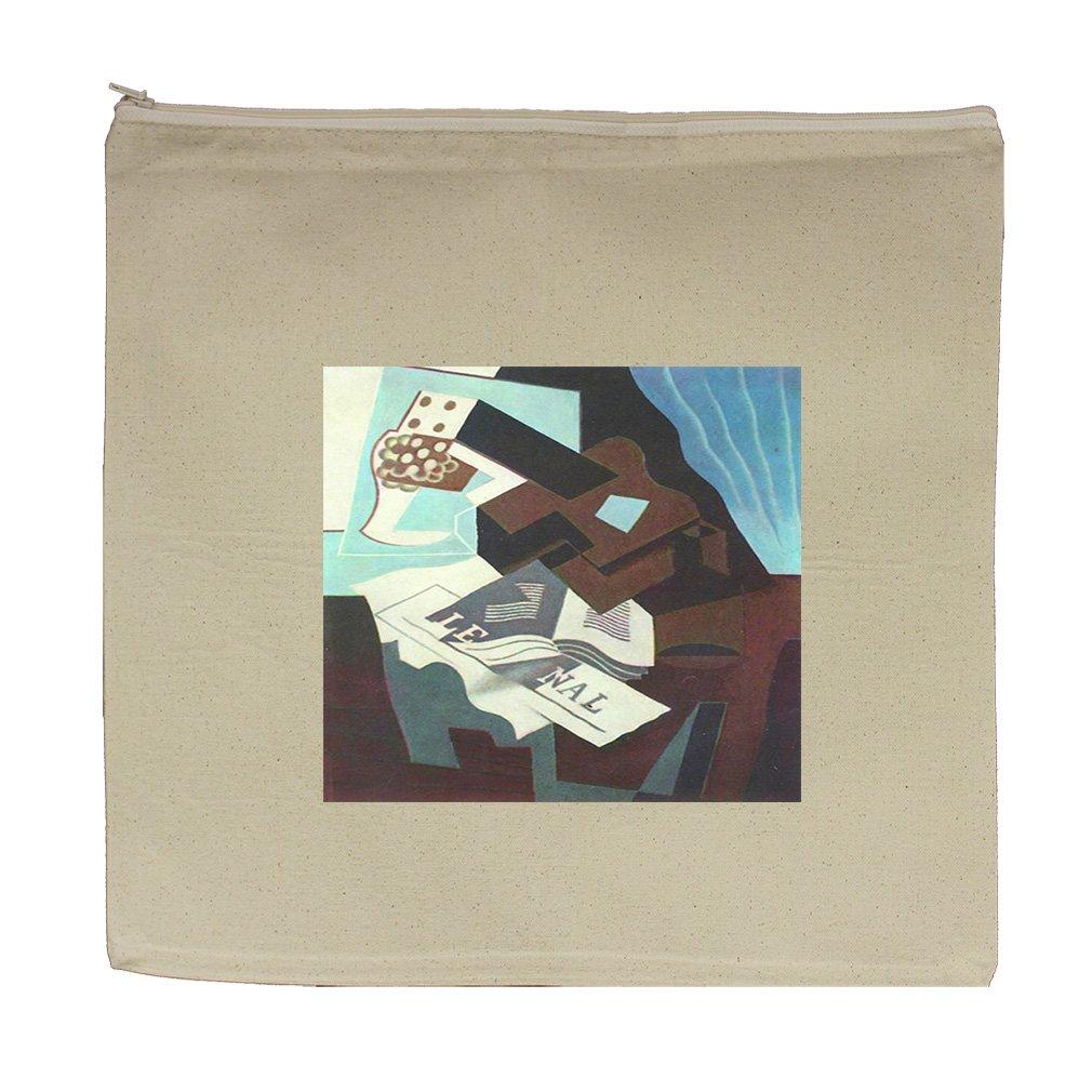 Still Life Glass Board Game (Juan Gris) Canvas Zipper Tote Bag Makeup Bag