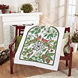Herrschners Winter Stained Glass Lap Quilt Top Stamped Cross-Stitch Kit