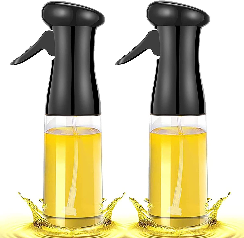 Oil Sprayer for Cooking, 2 Pack Olive Oil Sprayer Mister for Air Fryer, Refillable Plastic Spray Oil Bottle Dispenser Kitchen Vinegar Spritzer for BBQ Salad Baking Roasting Grilling