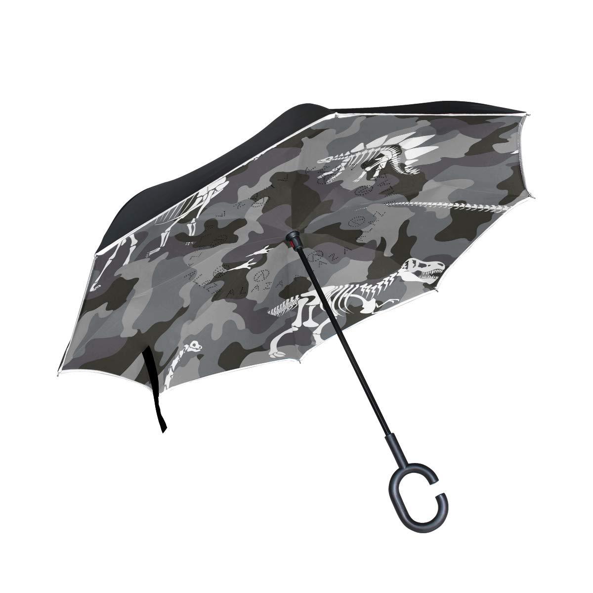 MAILIM Camouflage avec os de Dinosaure symétrie inversée Parapluie ...