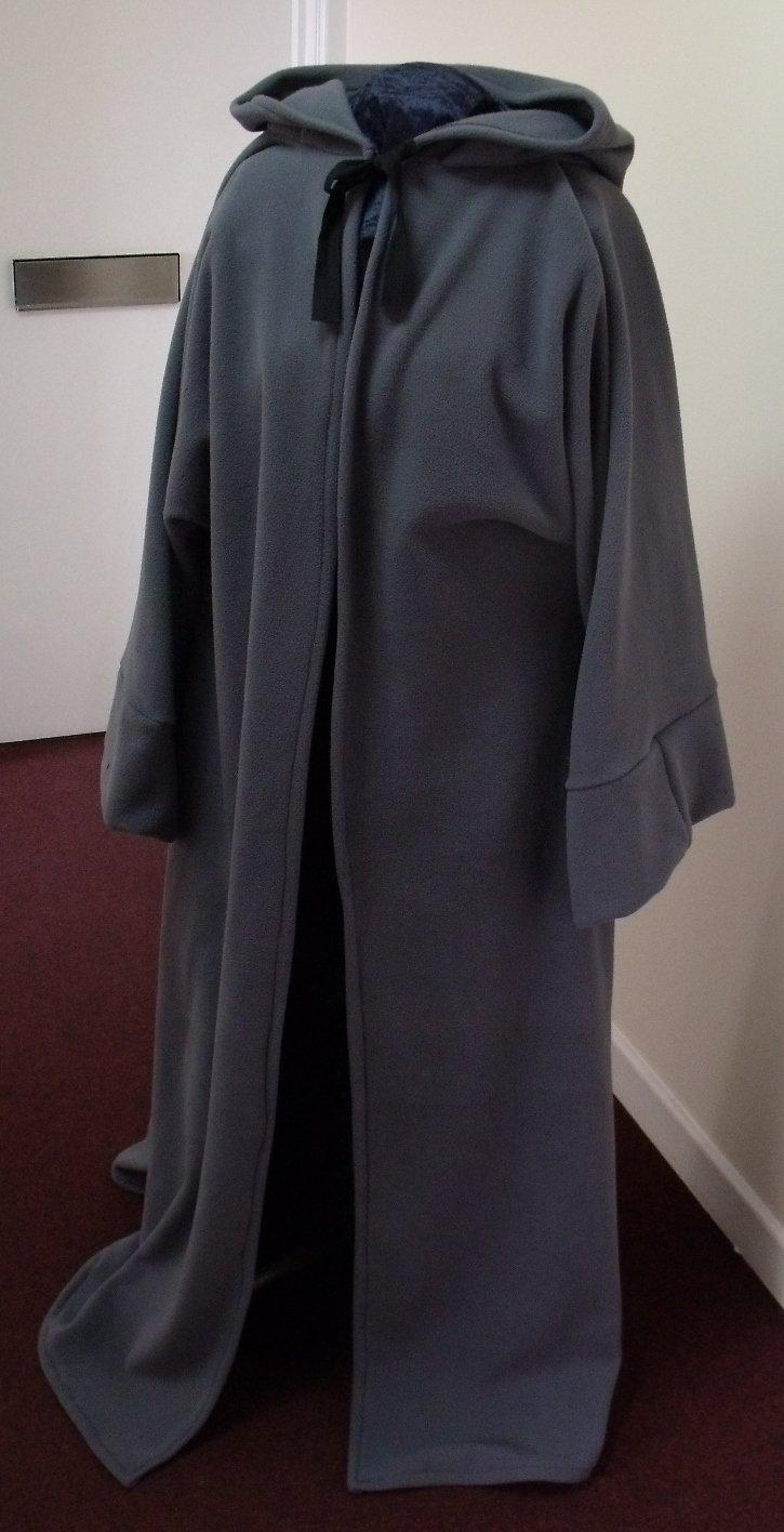 DARK GREY ROBE//PAGAN//JEDI//WIZARD//LARP//HALLOWEEN//fancy dress//Gandalf