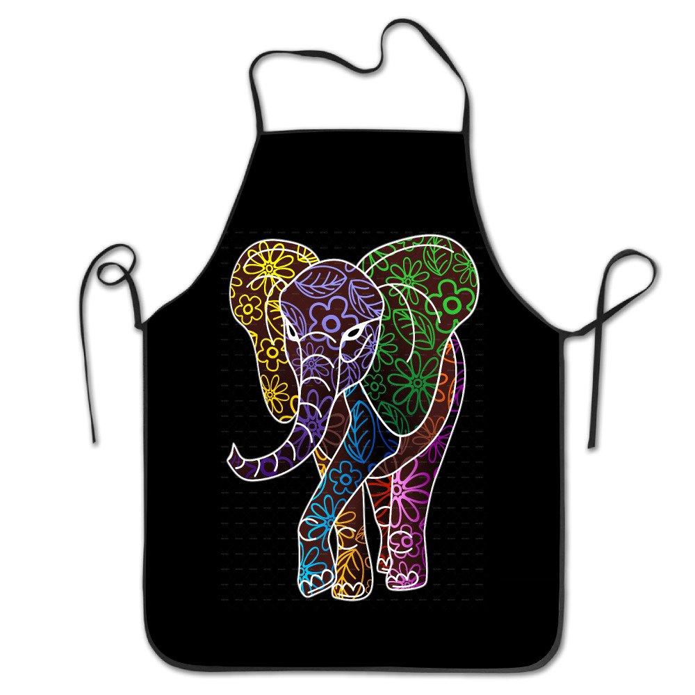 Funny Elephantロゴキッチン料理エプロン   B06XGWRNY2