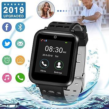 Reloj Inteligente Mujer,Reloj Inteligente Hombre Impermeable Bluetooth Smart Watch Con Control Remoto de Música y Camara,Monitor de Sueño Compatibles ...