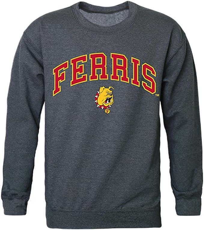 W Republic FSU Ferris State University Campus Crewneck Pullover Sweatshirt Sweater Heather Grey