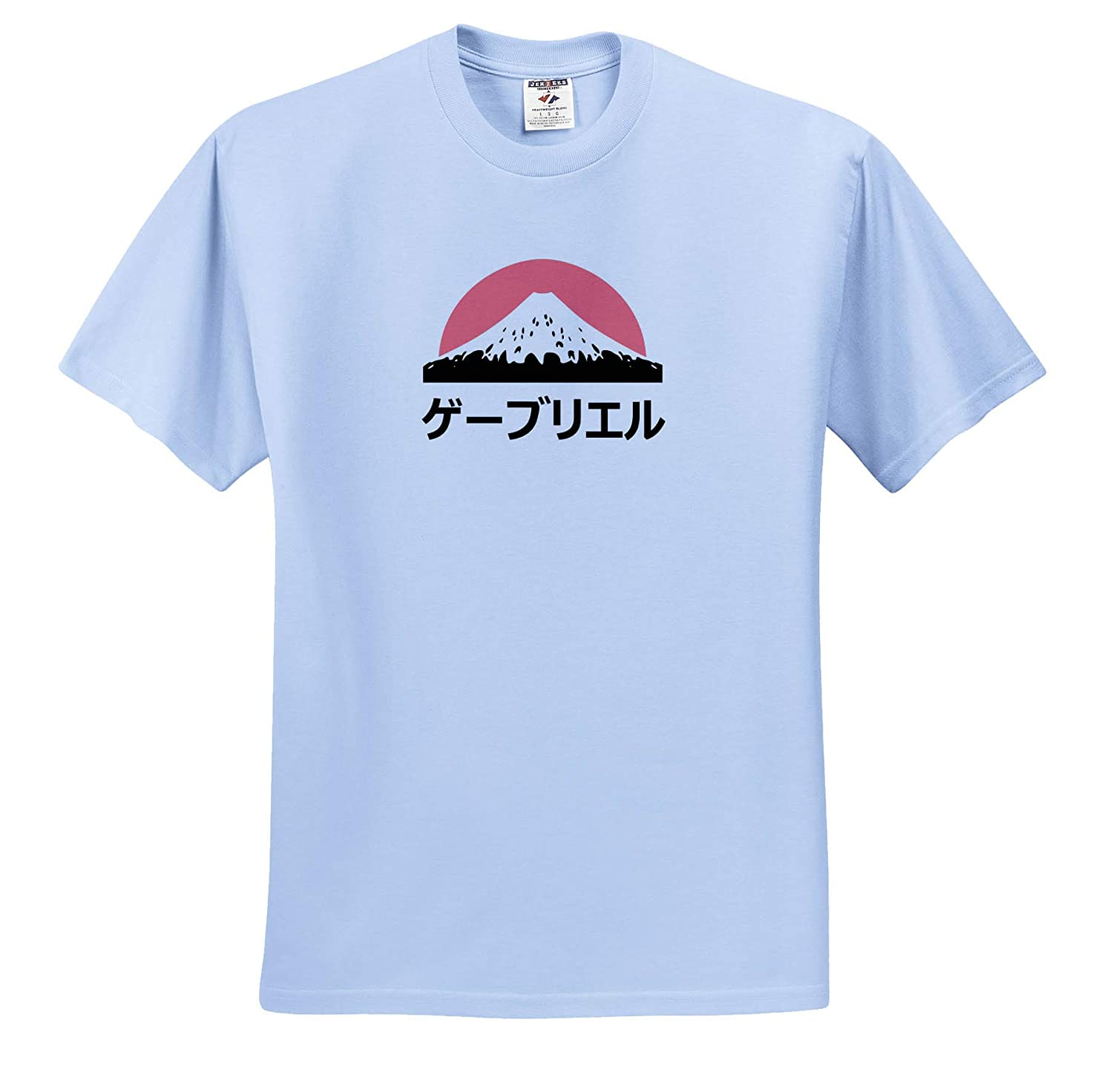 Adult T-Shirt XL Name in Japanese ts/_320488 3dRose InspirationzStore Gabriel in Japanese Letters