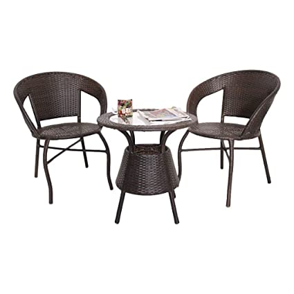 Amazing Unique360 Wix Outdoor Garden Patio Seating Set 1 2 2 Chairs And Table Set Home Remodeling Inspirations Cosmcuboardxyz