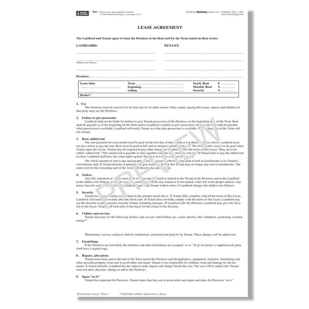 Amazon Com Blumberg New York Legal Forms Form 54 Plain