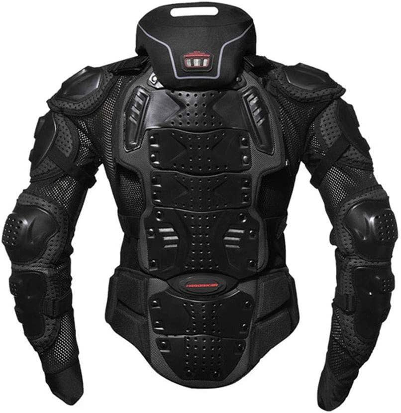 Men/'s Motorcycle Body Protective Jacket Guard Motorbike Motorcross Armour Armor Racing Clothing Protection/Black L//XL