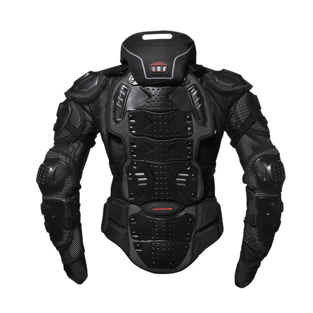 Motorcycle Armor Full Body Armor Jacket Racing Amour Neck Guard Protective Gear Chest Protection Clothing (XXXXL) by HEROBIKER