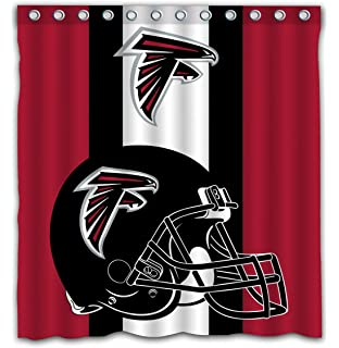 Potteroy Atlanta Falcons Team Simple Design Shower Curtain Waterproof Mildew Proof Polyester Fabric 66x72 Inches