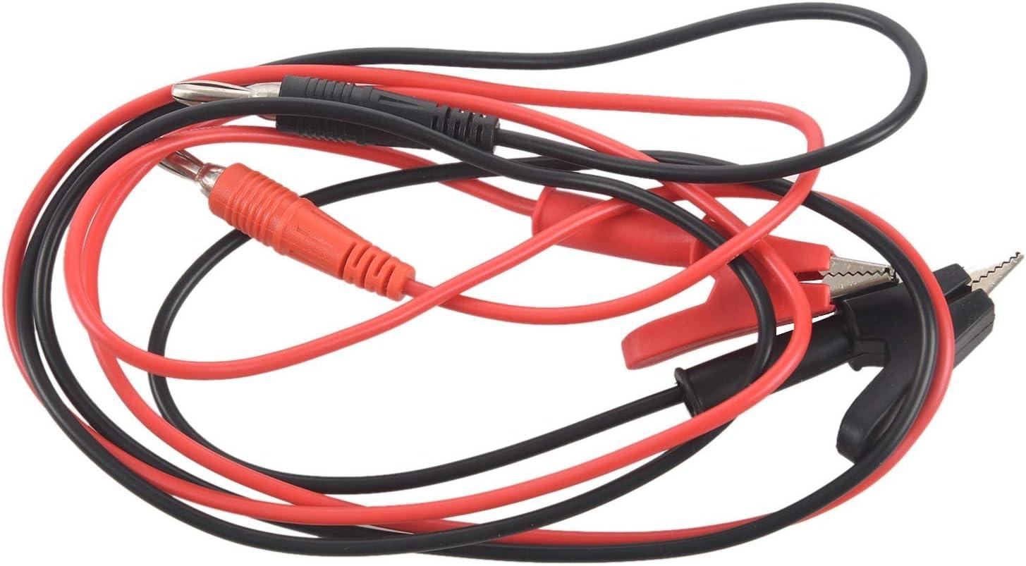 Fransande - Cable de prueba de 1 m de largo, con pinza de