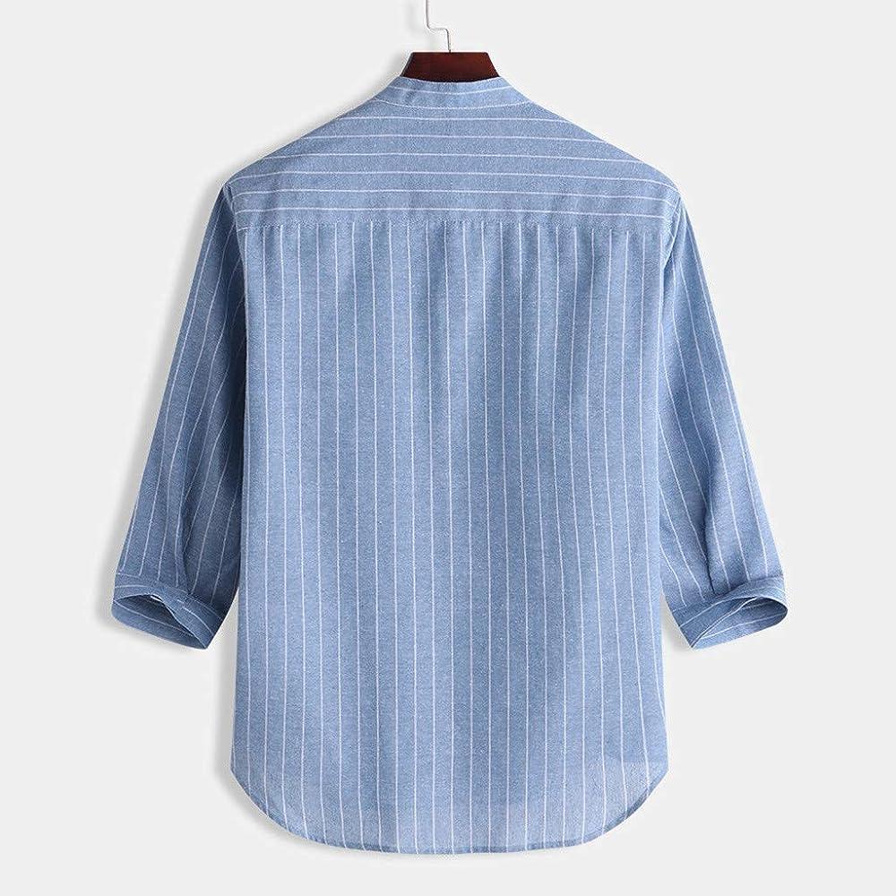 FossenHom Camisas de Hombre Manga Corta Casual con Botones
