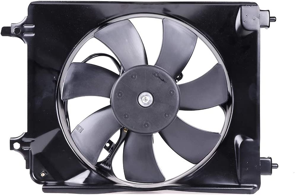 ECCPP AC A/C Condenser Radiator Cooling Fan Replacement fit for 2006-2011 Honda Civic 1.3L 1.8L 2.0L