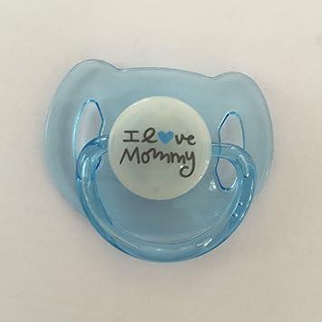 Magnet Pacifier Dummy for Reborn Newborn Baby Dolls Handmade Magnetic  Nipple Love Mommy Blue