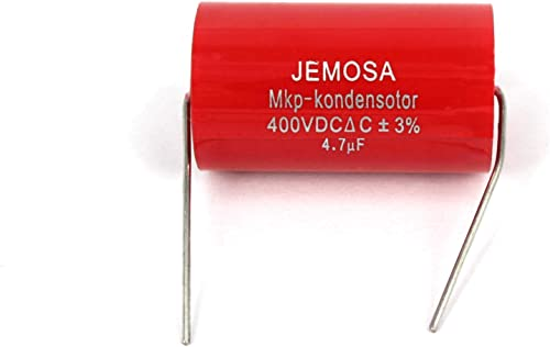 JEMOSA MKP Kondensotor 400VDC 4.7uf 3 Audio Capacitor Amplifier HiFi Frequency Divider Capacitance 5PCS Lot