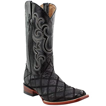 293ae533696 Amazon.com: Ferrini Men's Ostrich Patchwork Exotic Western Boot ...