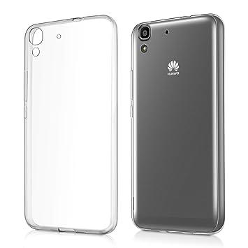 kwmobile Funda para Huawei Y6 (2015) - Case Ultra Slim de TPU sílicona - Cover Trasero en Transparente