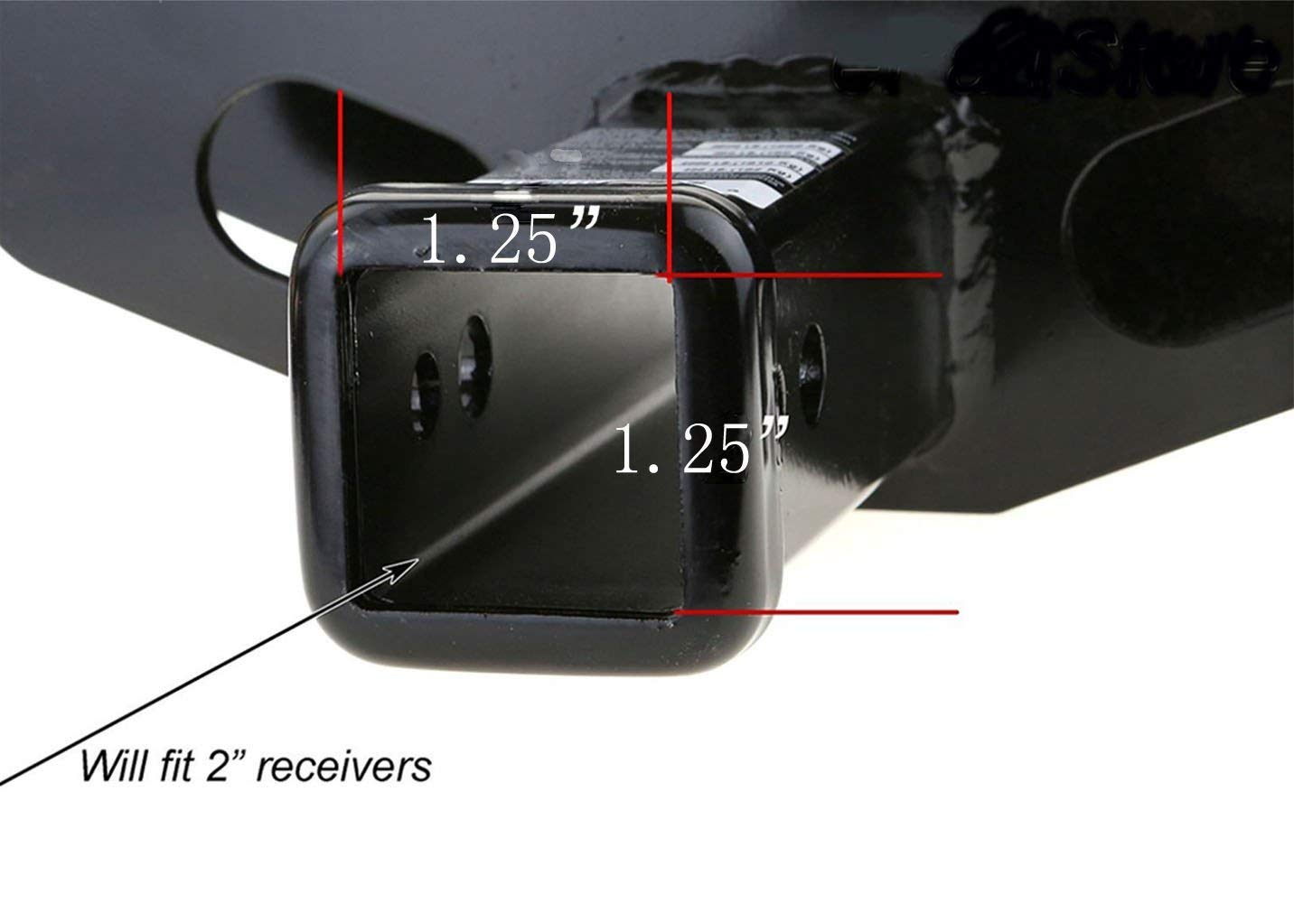 Locke 2 Pack 1 1//4 Inch Trailer Hitch Cover Tube Plug Insert 1.25