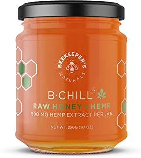 product image for BEEKEEPER'S NATURALS B. Chill Honey Jar - Raw Honey - Helps with Stress Relief, Sleep Aid & Zen - 100% Raw Enzymatic Honey, MCT - (8.1 oz)