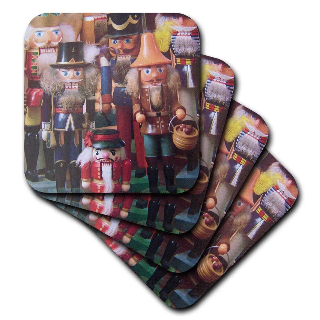 3dRose CST/_21540/_1 Nutcracker Collection Soft Coasters Set of 4